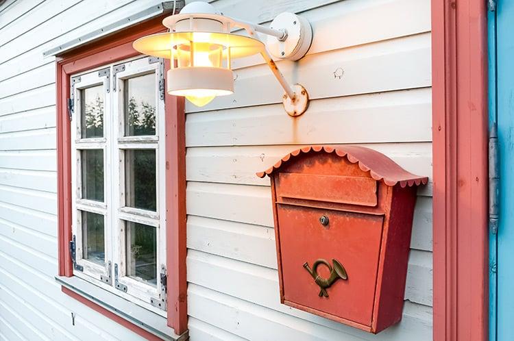 Briefkasten mit Beleuchtung - Blickfang an der Haustür